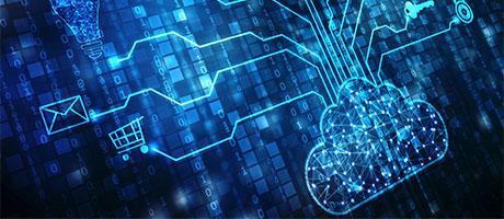digital cloud representing cloud infrastructure