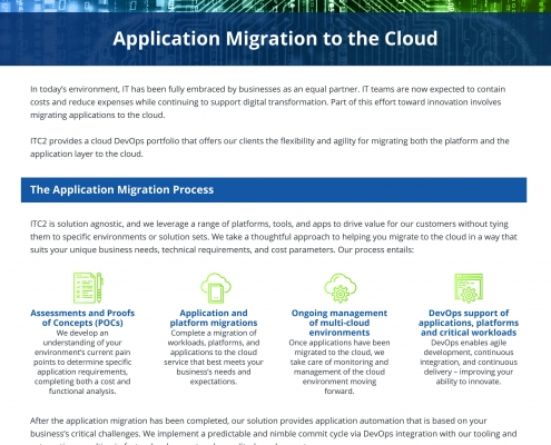 Application Migration to the Cloud whitepaper
