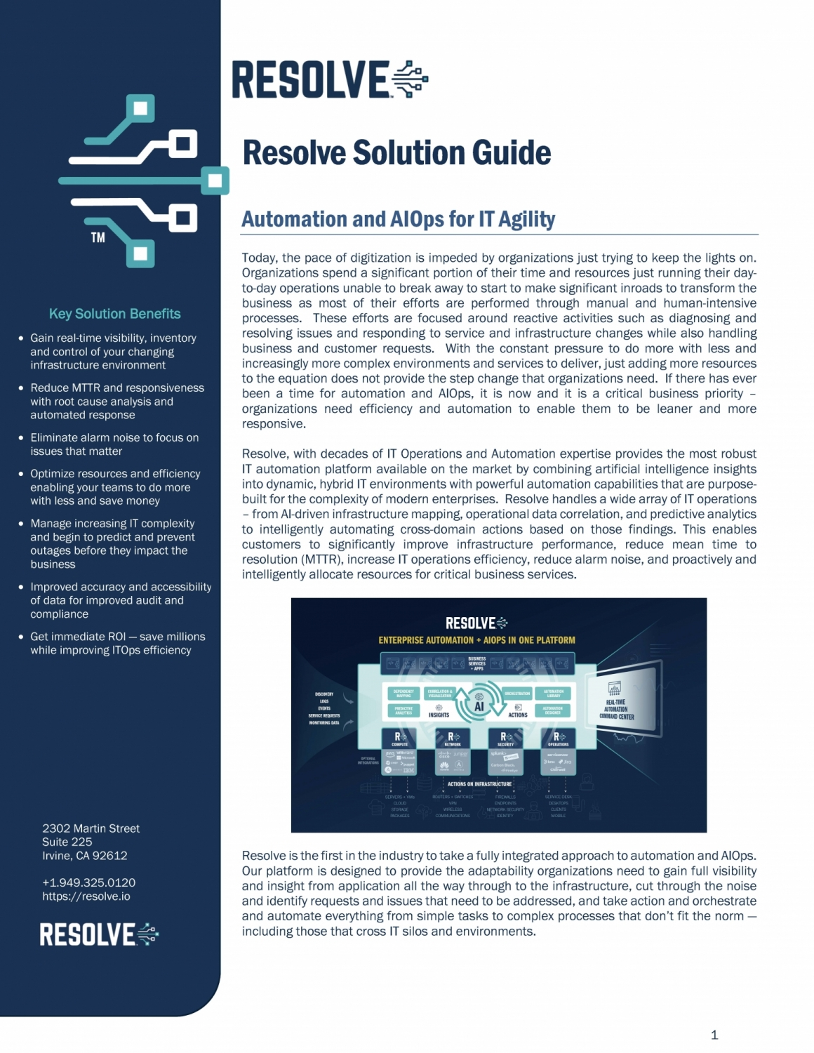 Resolve Solutions Guide
